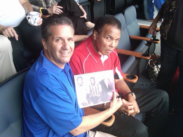 John Calipari with Muhammad Ali
