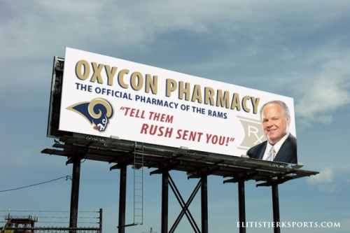 Rush Limbaugh Rams Billboard Spoof