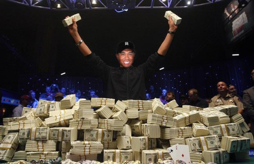 Tiger Woods and his Pile of Cash